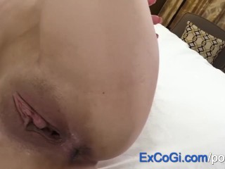 Petite 18 year old Teen Ana Rose First Porn Fuck and Creampie