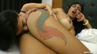 Deep Tongue Fucking Right in the Ass - Hot Lesbian Ass Licking