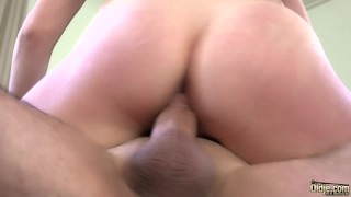 Big natural boobs fucked hard cum in mouth for the