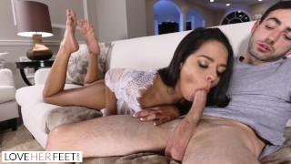 LoveHerFeet - Vienna Black's Orgasmic Toe Sucking Session