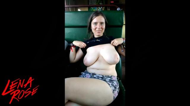 Boobs On The Train