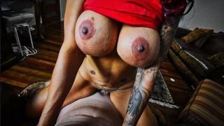 Sexy Huge Tit Cougar MILF Sucking Cock For a Big Facial