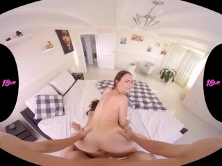 18VR.com Anal Threesome With Two Stepsisters Lilu Moon And Sasha Sparrow