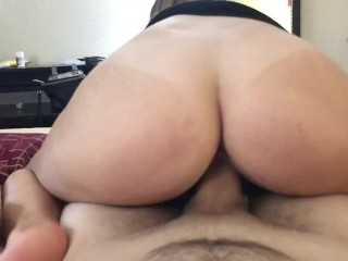 Riding Cock Made Him Want To Cum On My Little Asshole