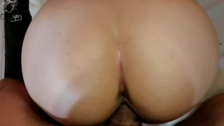 Screen Capture of Video Titled: Sloppy hot stepsister socks cock stepbrother and fucks in the doggystyle.