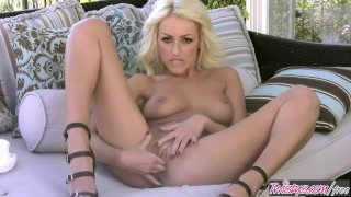 Twistys - Breanne Benson plays with her pierced pussy