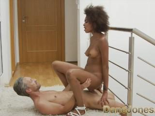 Dane Jones Sexy bubble butt black Brazilian takes a big bendy cock