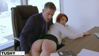 Screen Capture of Video Titled: TUSHY Bree Daniels' FIRST Anal Sex Scene