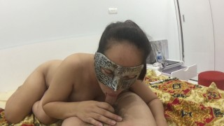 My chubby wife love sucking my cock, she is so horny right now