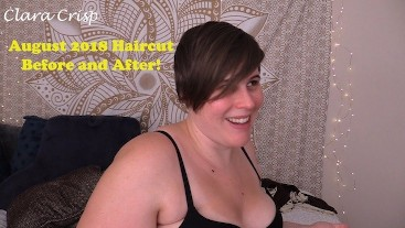 August 2018 Haircut Before and After Clara Crisp Hair Fetish