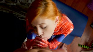 The Amazing Spider-Girl Gets Face Fucked