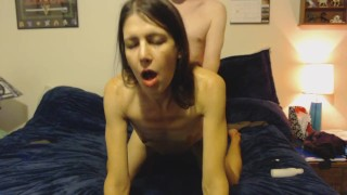 Horny stepmom gets a one way ticket to pound town with a creampie souvenir