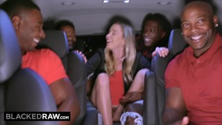 Screen Capture of Video Titled: BLACKEDRAW Teen gets passed around and fucked by group of BBCs