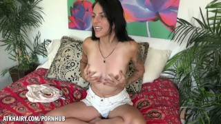 Delta Hauser's Interview with her hairy pussy