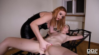Latex lovers can't wait to see Eva Berger & Linda Brugal in this BDSM porn!