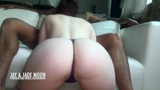 Amateur PAWG Twerking for the Creampie • JayJadeMoon Couple