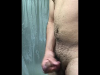 Playing before shower