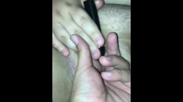 chubby white girl fingering