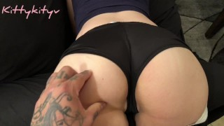 Screen Capture of Video Titled:  takes Creampie