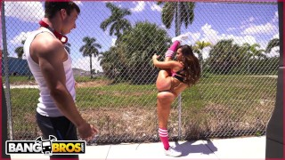Screen Capture of Video Titled: BANGBROS - PAWG Kelsi Monroe Taking Multiple Dicks On The Bang Bus