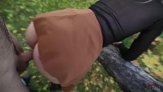 Public Suck N' Fuck - Outdoor Creampie
