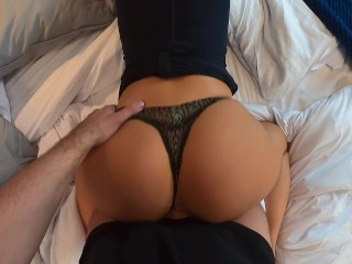 Horny young wife hard fucked in bedroom