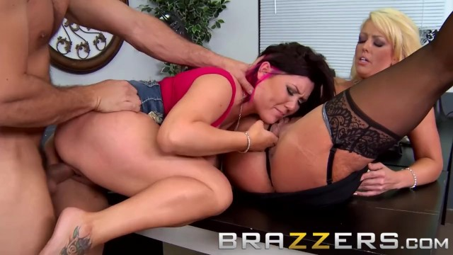 BRAZZERS - Alura Jenson & Claire Dames - Doctor and assistant share cock