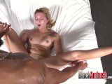18 Teen First Big Black Cock and Creampie