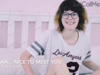 RyanX Castings: Introducing Sara Bell teen POV blowjob + cum on face