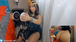 ASMR 3dio Cosplay Cleópatra Cumming for you Goazando Gostoso