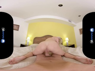 BaDoinkVR.com Blonde Teen Babe Xandra Sixx Brings You Back To Life