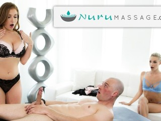 NuruMassage Lucky Guy Isn't Expecting to Fuck 2 Chicks Today!