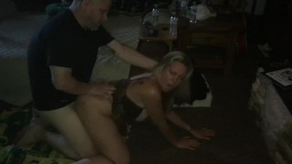 My duty is to be bred. Hubby's friend taking my ass on the floor.