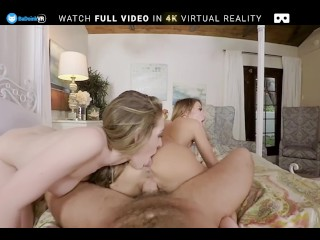 BaDoink VR Hard Squirting Threesome With Adriana And Kimmy In POV