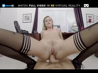 BaDoink VR Office Teen Slut Haley Reed Fucks You Like She Hates You