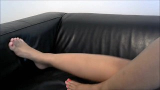 Goddess Paris Teases Her Foot Slaves