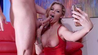 Big tit blonde pornstar Jessa Rhodes finds herself a rebound fuck