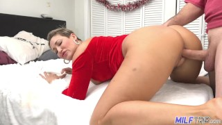 MILF Trip - Brunette MILF with big ass and tits creampied