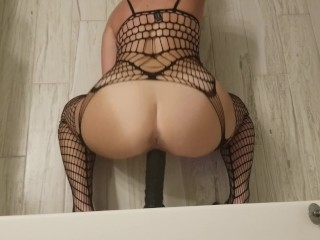 PAWG takes big black dildo from the back (Mrs32G)