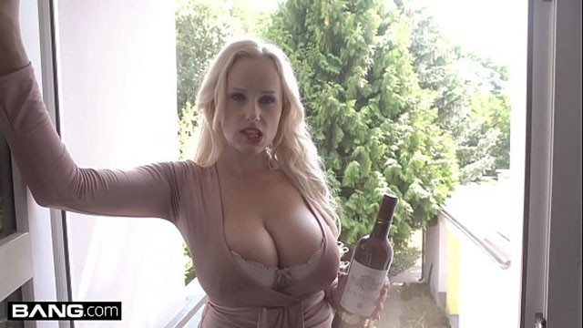 Glamkore - Angel Wicky begs her hot neighbor to stick his dick in her ass