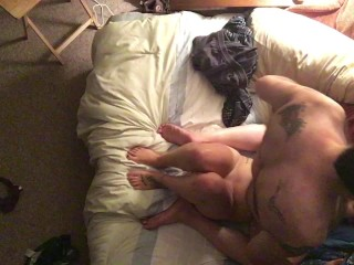 First time fucked on video and he plowed me so hard at the end!