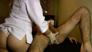 Hot Nurse Does Perfect Prostate Massage - POV Impulsive Chest Cumshot