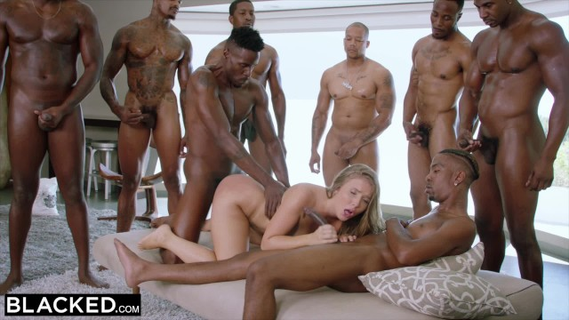 BLACKED Lena Paul first interracial gangbang