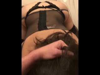 Wife sucking my cock before getting fucked
