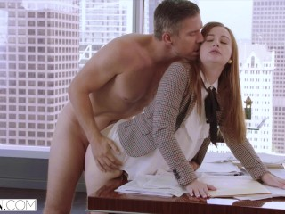 VIXEN Intern Gets Dominated By Her Father's Business Partner And Loves It