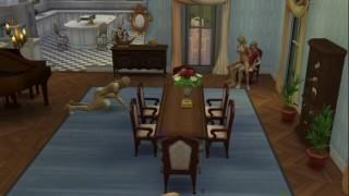 Living room orgy