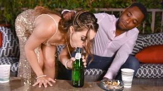 Screen Capture of Video Titled: TLBC - Sofie Reyez Sucks A Black Cock