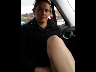 Shy milf masturbating in public