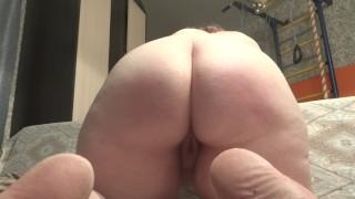 BBW slut spanked and fucked