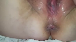 Grandma's pussy eating and pussy filling